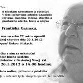 Frantiek Granec, R.I.P.