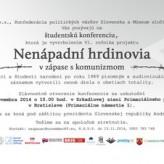 Nenápadní hrdinovia 2014, pozvánka na slávnostnú konferenciu