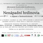 Pozvánka na slávnostnú konferenciu Nenápadní hrdinovia 2018